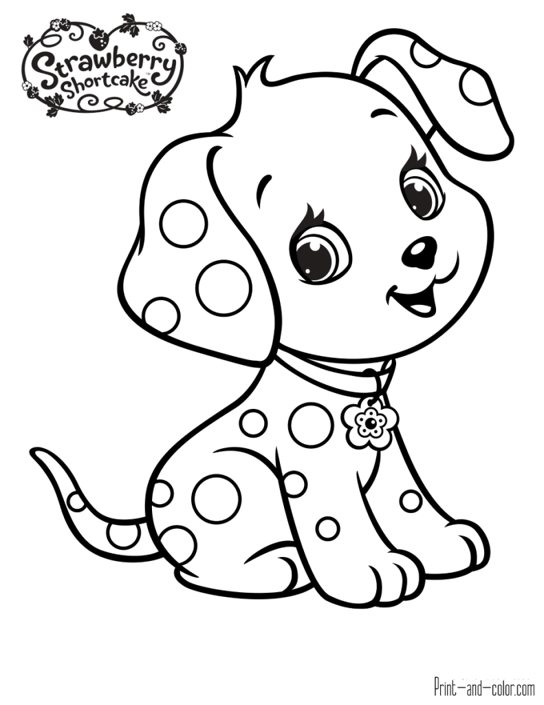 Strawberry Shortcake coloring pages  Print and Color.com  Puppy