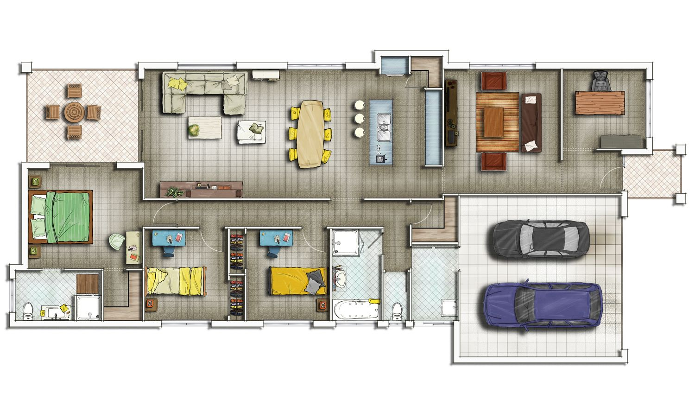 Residential Home Floor Plan Floor Designs Pinterest