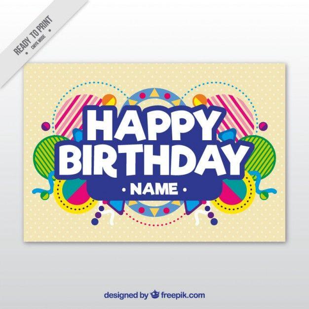 Plantilla de la tarjeta de cumpleaños Vector Premium HAPPY - happy birthday cards templates