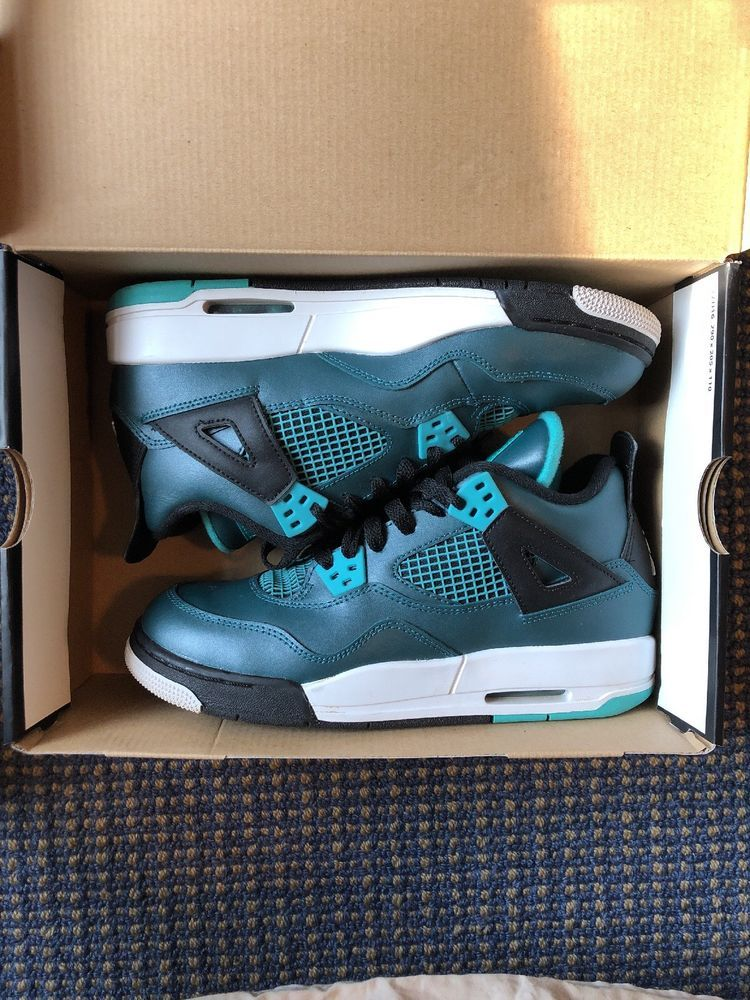 save off 2dff7 172be Jordan 4 Teal  fashion  clothing  shoes  accessories  mensshoes   athleticshoes (ebay link)