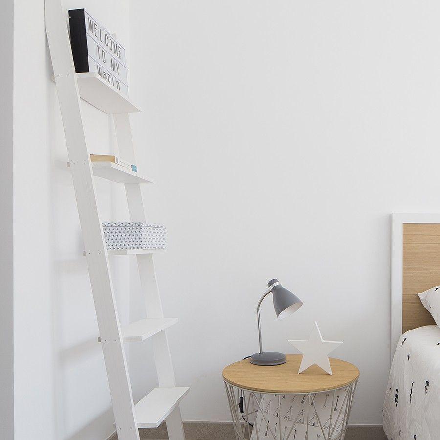 Nussa escalera estanter a blanca escaleras pinterest - Estanteria pared blanca ...
