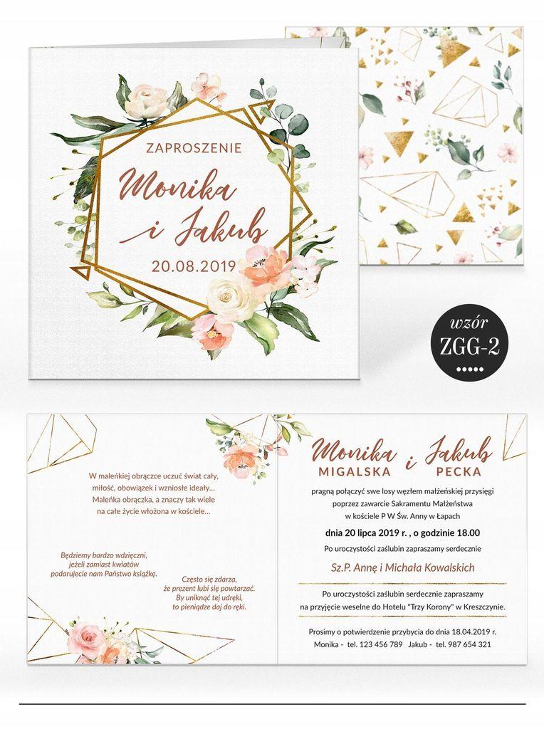 Zaproszenia ślubne Rustykalne Kwiaty Koperta W 2019 Zaproszenia