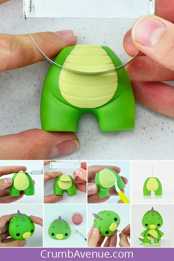 Baby Dino Cake Topper