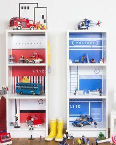 kombi angebot feuerwehr polizei limmaland kleben spielen leben kinderzimmer. Black Bedroom Furniture Sets. Home Design Ideas