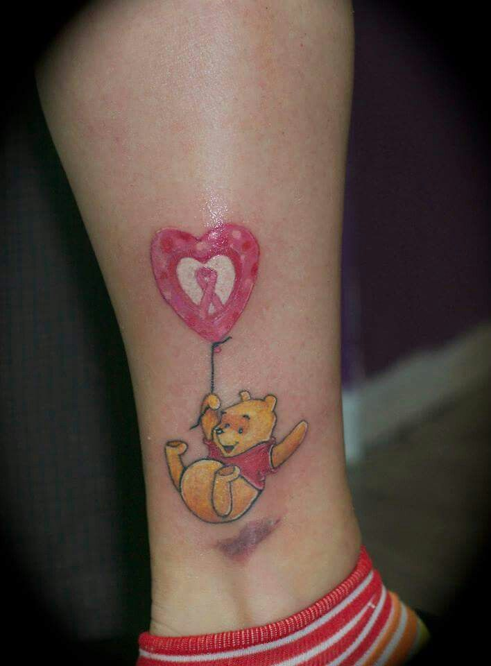 My tattoo in honor of my love for Winnie and my Mom