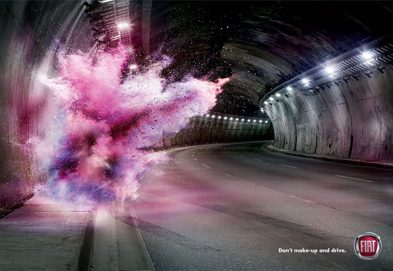 Don't Make-up and Drive   Make Up Road Safety Awareness Campaign    Award-winning Press Advertising   D&AD