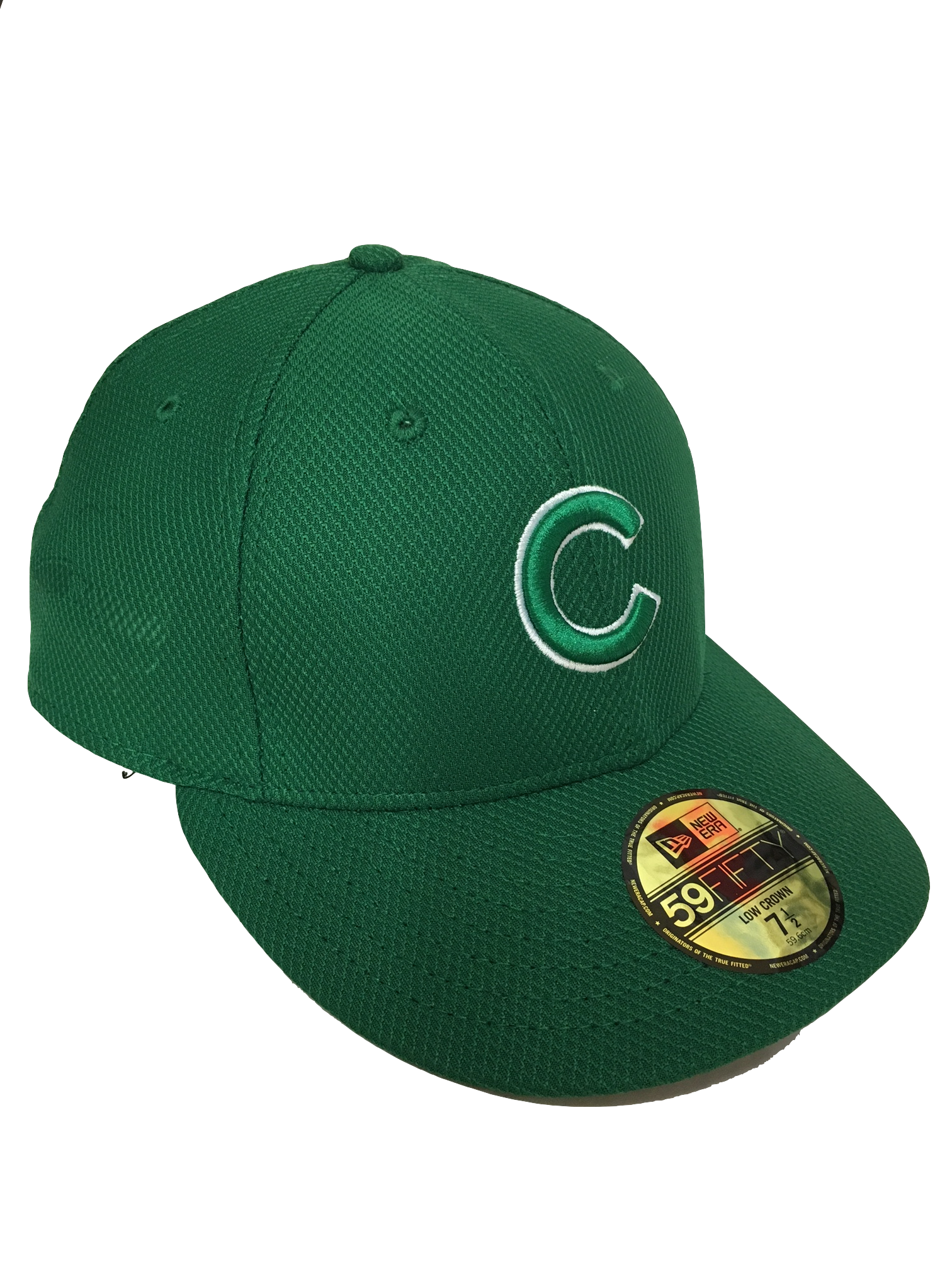 c963b476a48e2 ... amazon chicago cubs kelly green diamond era low crown 59fifty fitted  hat b7d8f 29e2a