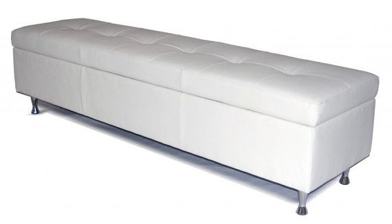 Contemporary King Size White Leather Tufted By Alexalindesigns 928 00 White Storage Bench Large Storage Bench Tufted Storage Bench