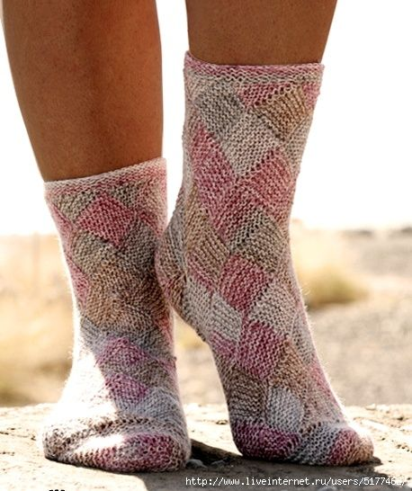 страна мам вязание ажурных носков