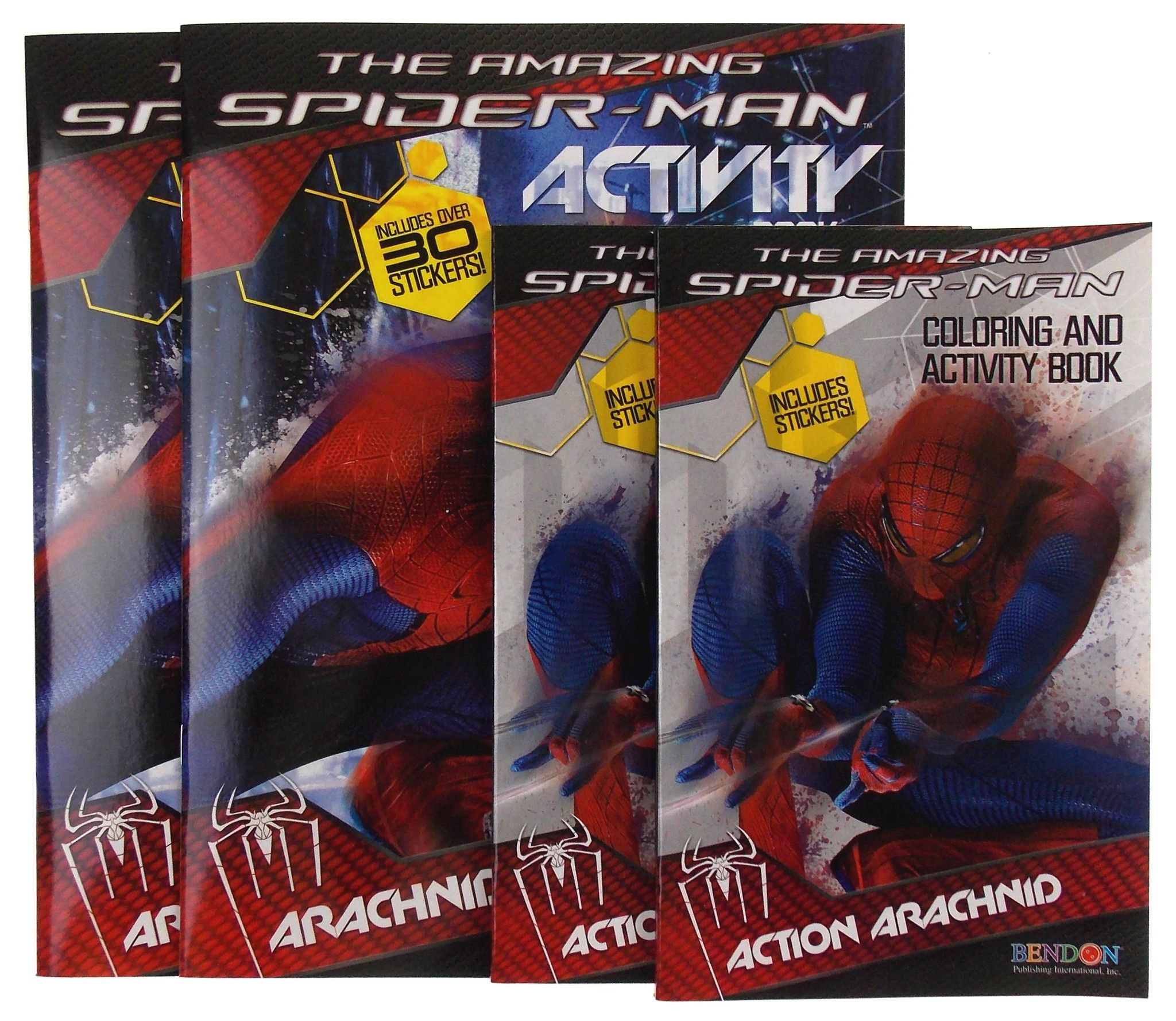 The Amazing Spiderman Activity Coloring Book Lot 4 Marvel Action Arachnid Attack Amazing Spiderman Spiderman Coloring Spiderman