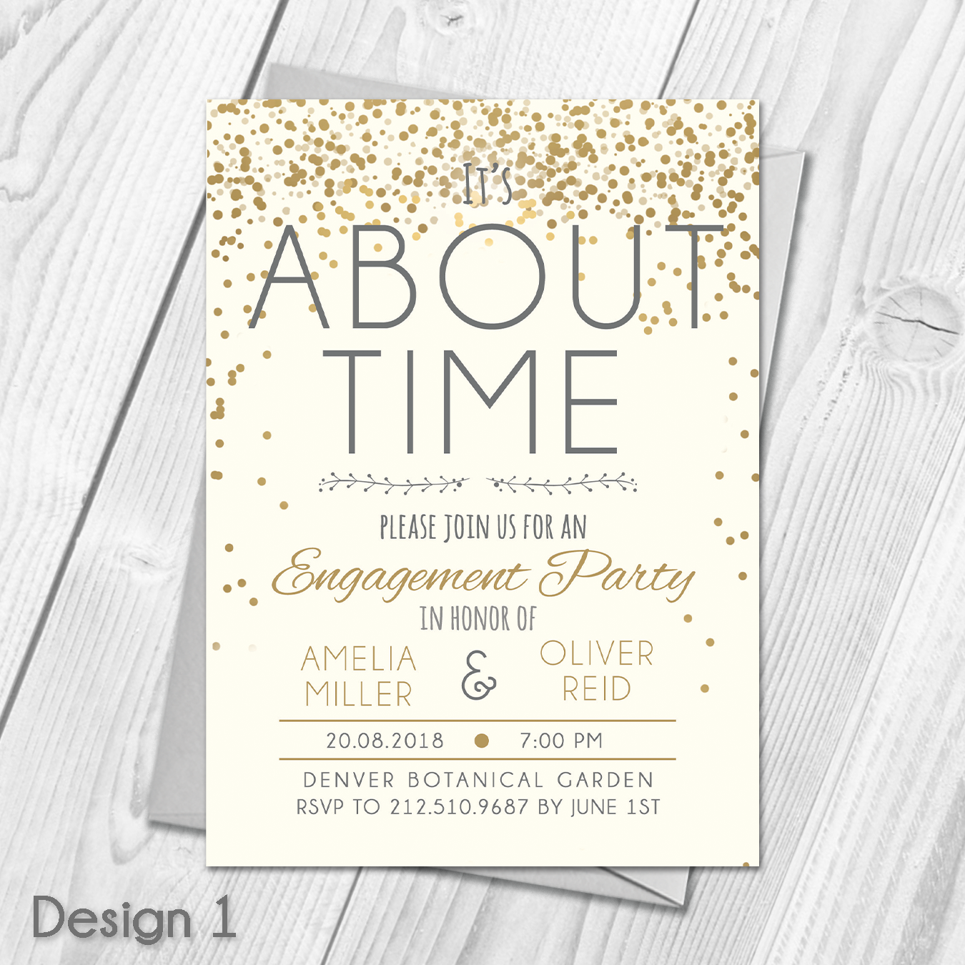 Personalised Engagement Party Invitations | Engagement Announcement ...