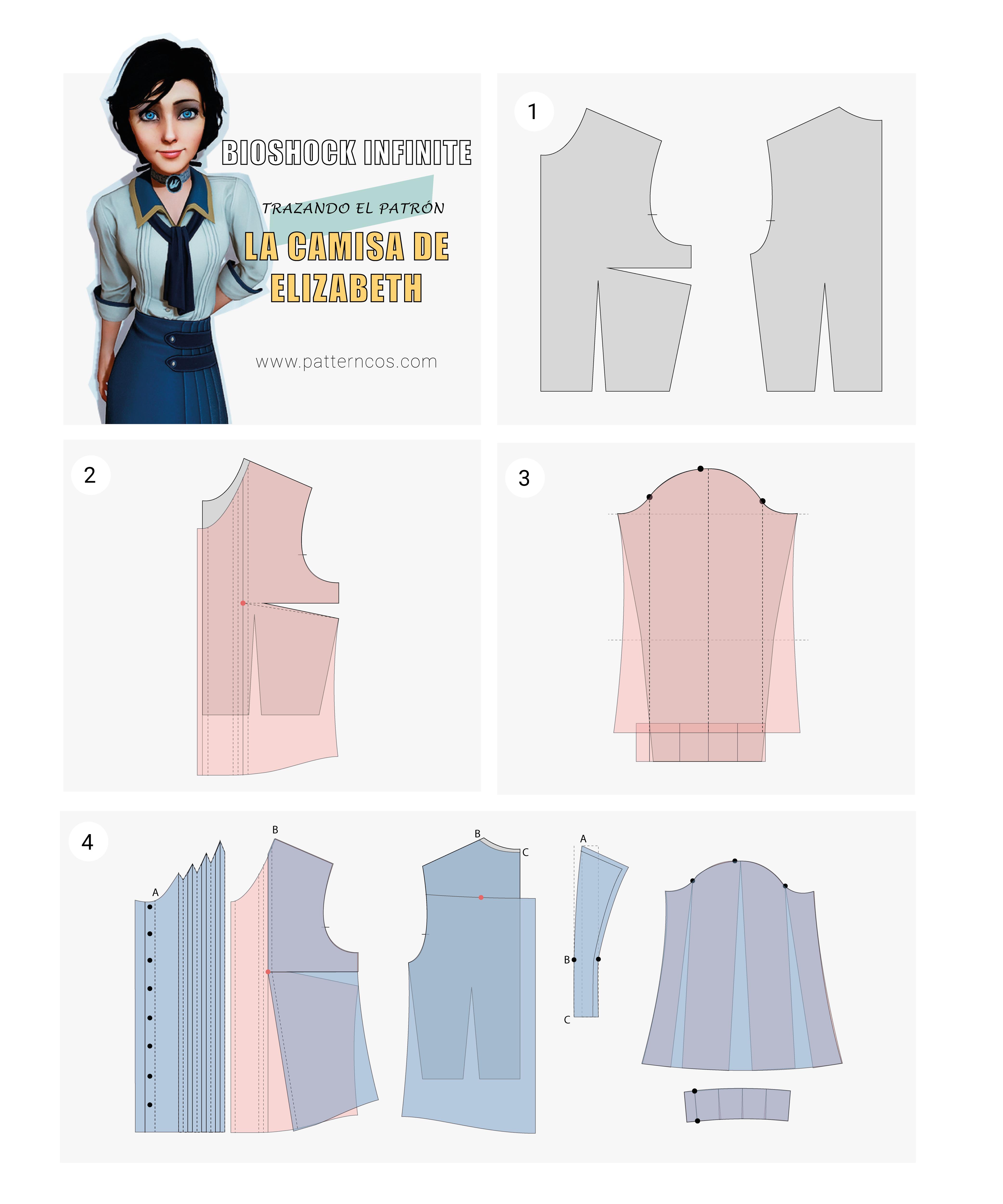 Cómo hacer la camisa de Elizabeth | Cosplay Tutorial | Bioshock ...