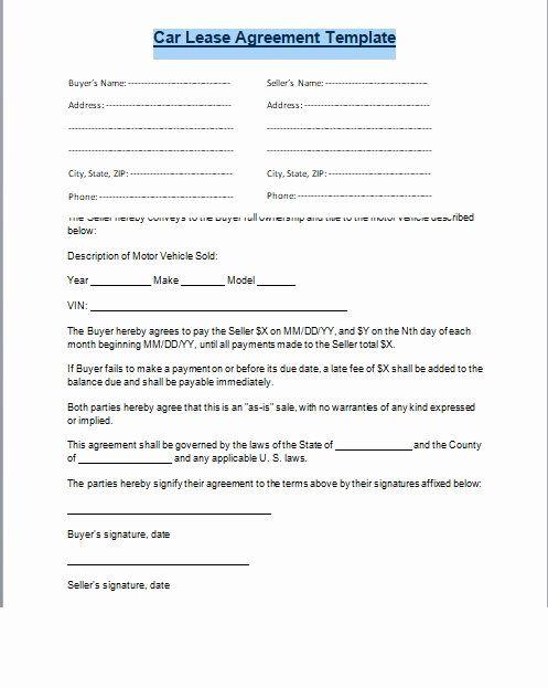 Car Sale Agreement Word Doc Lovely Car Lease Agreement Format Word And Pdf Excel Tmp Car Lease Rental Agreement Templates Lease Agreement