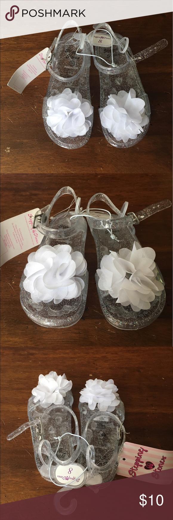 79dfabcaa Toddler girl jelly sandals w  flower. Stepping StonesToddler ...