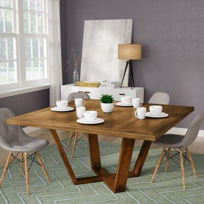 Ivy Bronx Macarthur Solid Wood Dining Table Color Walnut Size