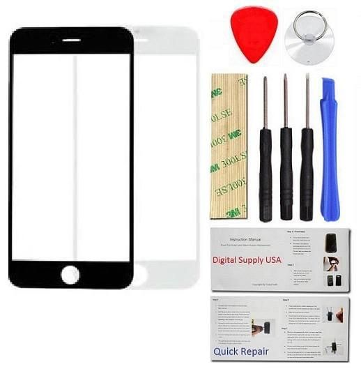 Iphone 8 Plus Repair Glass Screen Replacement Kit Tools Instructions White Pro Series Screen Replacement Iphone 8 Plus Glass Screen