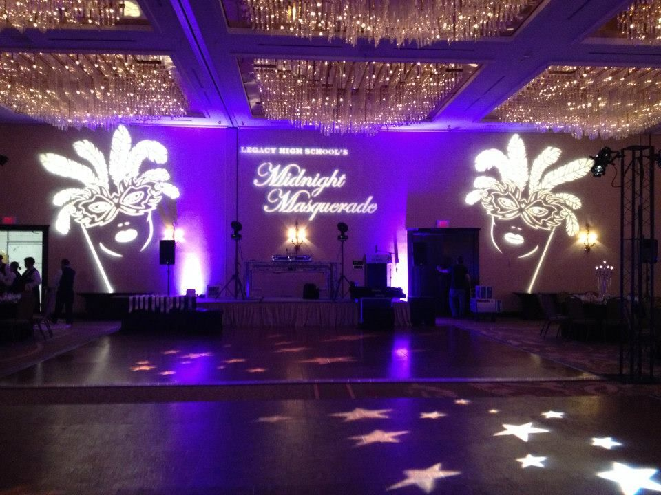 Masquerade Ball Decorations Prom Delectable Gobos For Masquerade Wwwexperiencespecialist  Prom Design Ideas