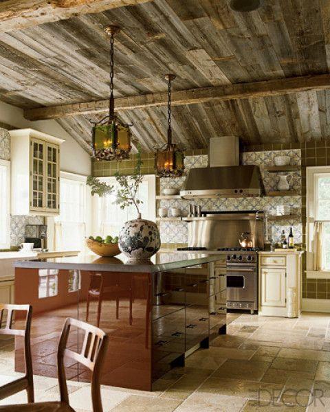 A-List Designer Kitchens - Best Designer Kitchens - ELLE DECOR :: Juxtaposition of Island ~ Joe Nahem