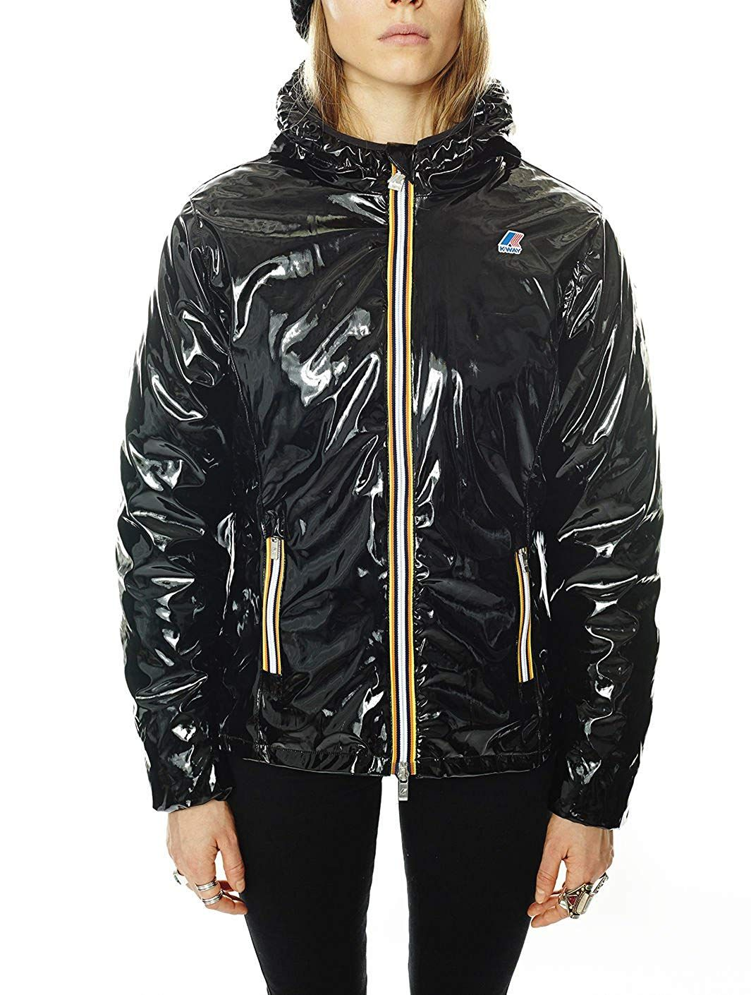 3f9a87f3e45 Raincoat Lily Vinyl Black K-Way 8 Women  Amazon.co.uk  Clothing. Find this  Pin and more on shiny nylon ...
