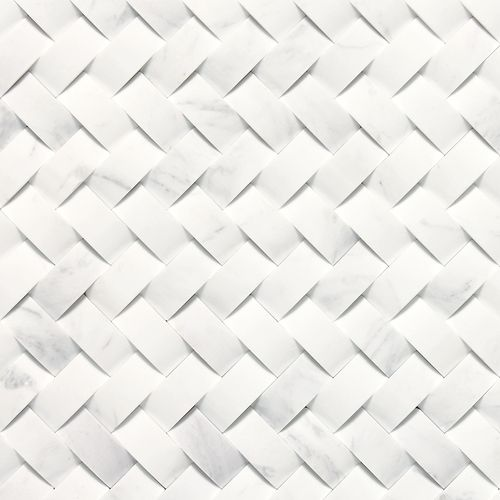 Basketweave Honed Contempo White Backsplash Daltile