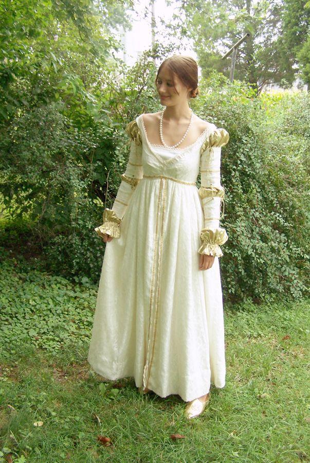 White Renaissance Dress By Alrach Deviantart Com On