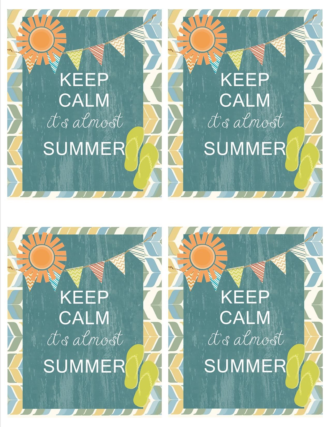 Keep Calm it\'s almost Summer FREE Gift Tags. great for Teacher ...