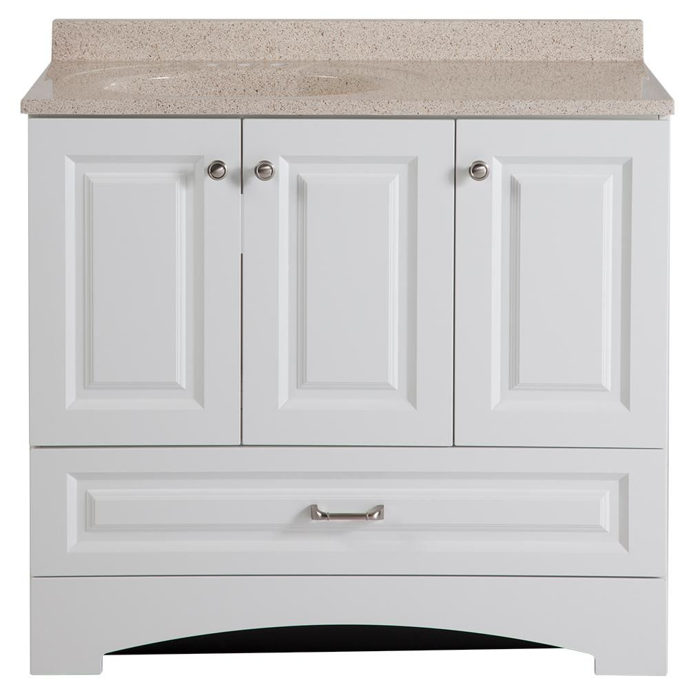 glacier bay lancaster 36 in w vanity in white with colorpoint rh pinterest com