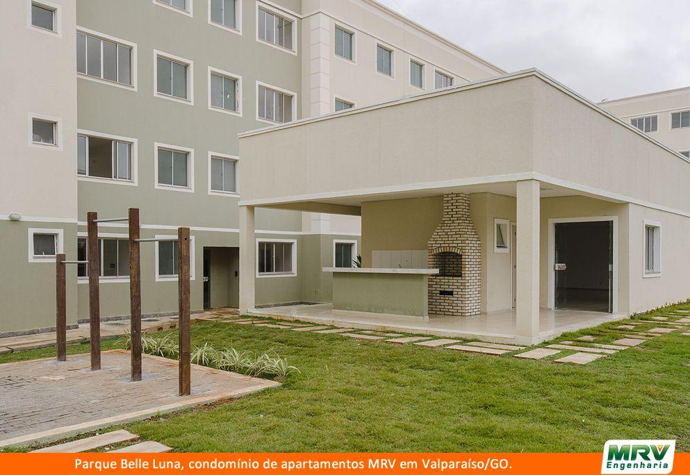Paisagismo do Belle Luna. Condomínio fechado de apartamentos localizado em Valparaíso / GO.