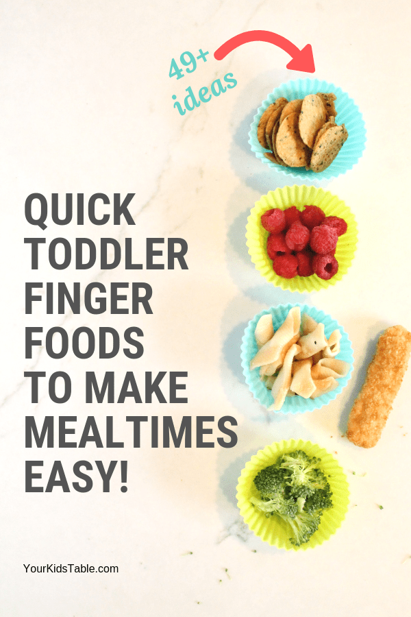 49 Finger Foods for Toddlers to Make Meals Easy images
