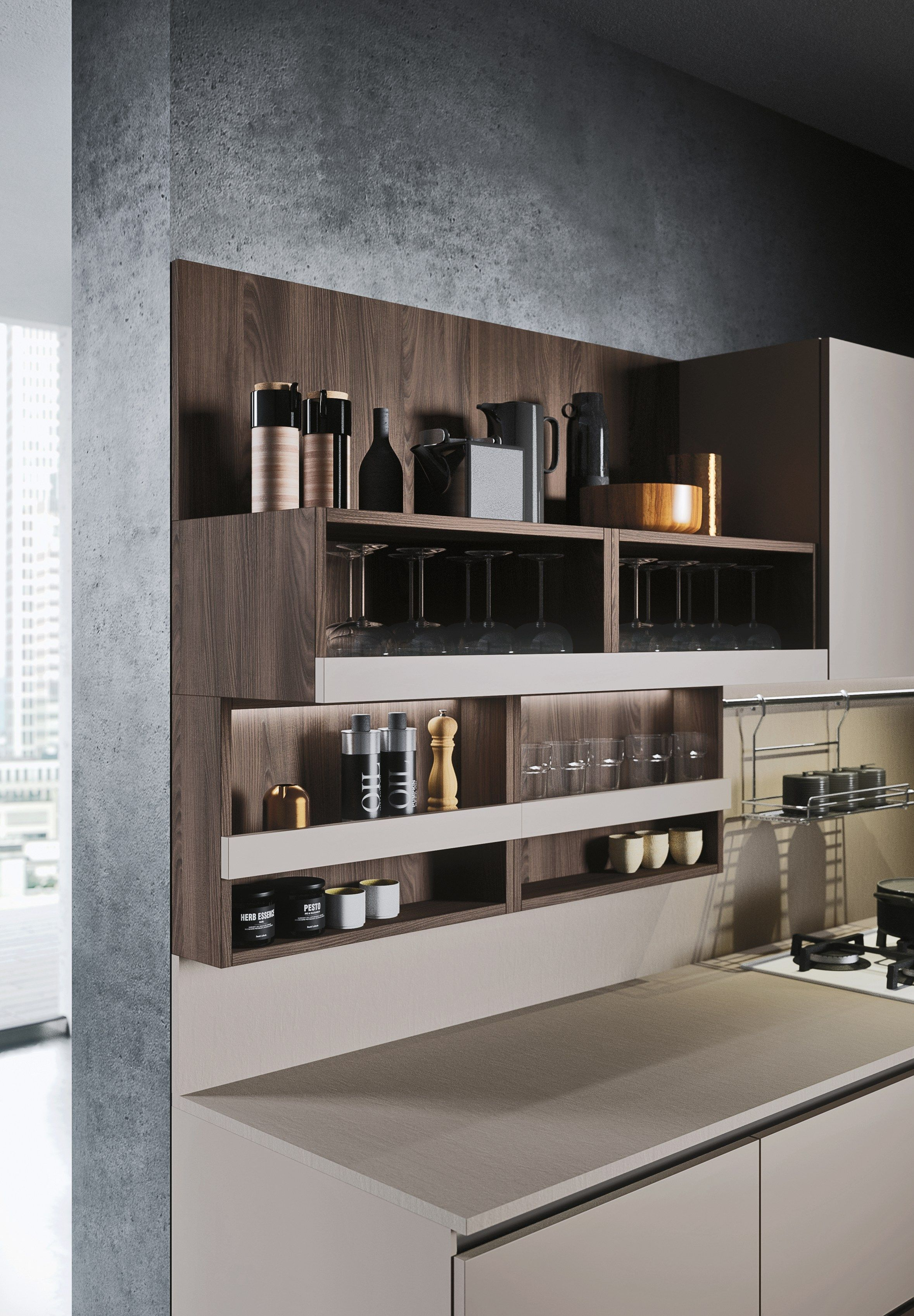 First Contemporary Style Kitchen By Snaidero Design Snaidero Contemporary Style Kitchen Luxury Kitchen Design Modern Kitchen Design