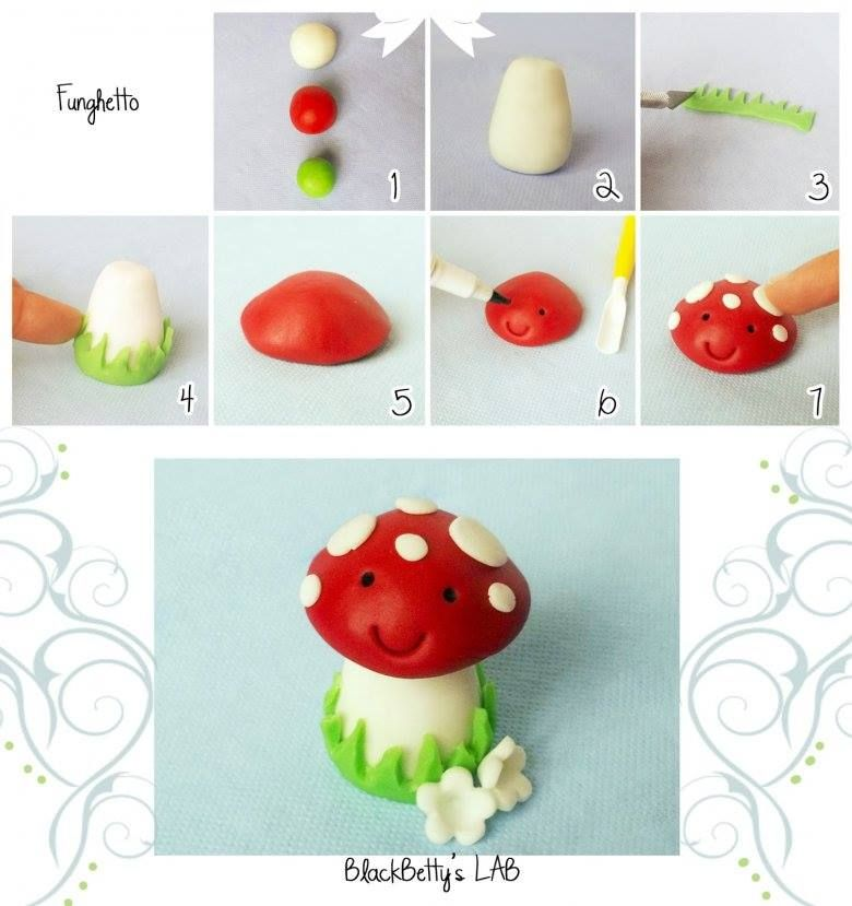 mushroom clay creations fondant knete und fondant torten. Black Bedroom Furniture Sets. Home Design Ideas