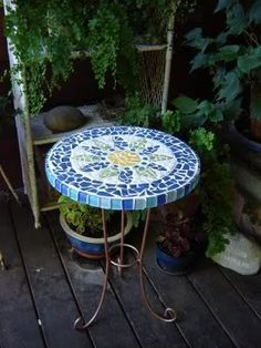 How To Create A Mosaic Table? #Mosaic #table #DIY