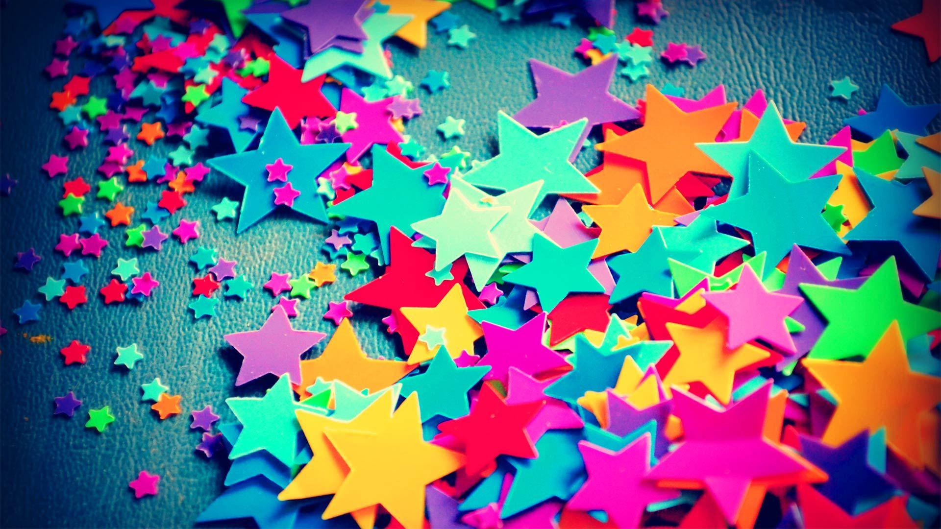 Fondos De Corazones Y Estrellas: Fondo Pantalla Estrellas De Colores