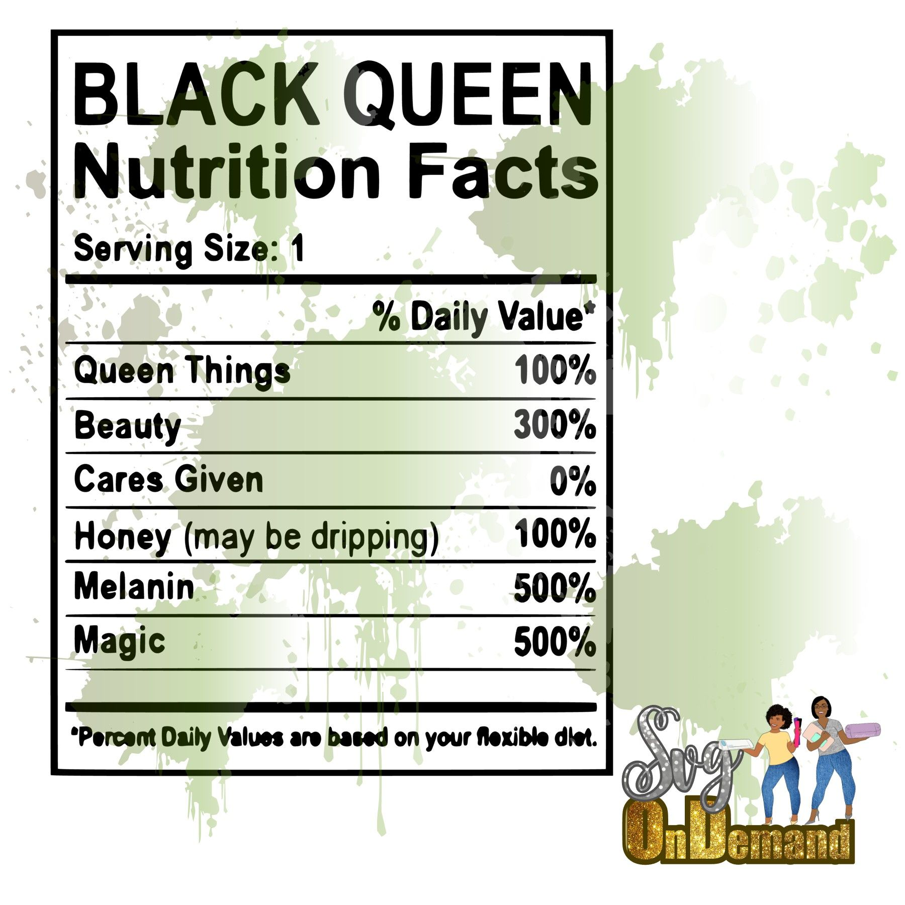 Black Queen Nutrition Facts Nutrition Facts Nutrition Facts Label Facts
