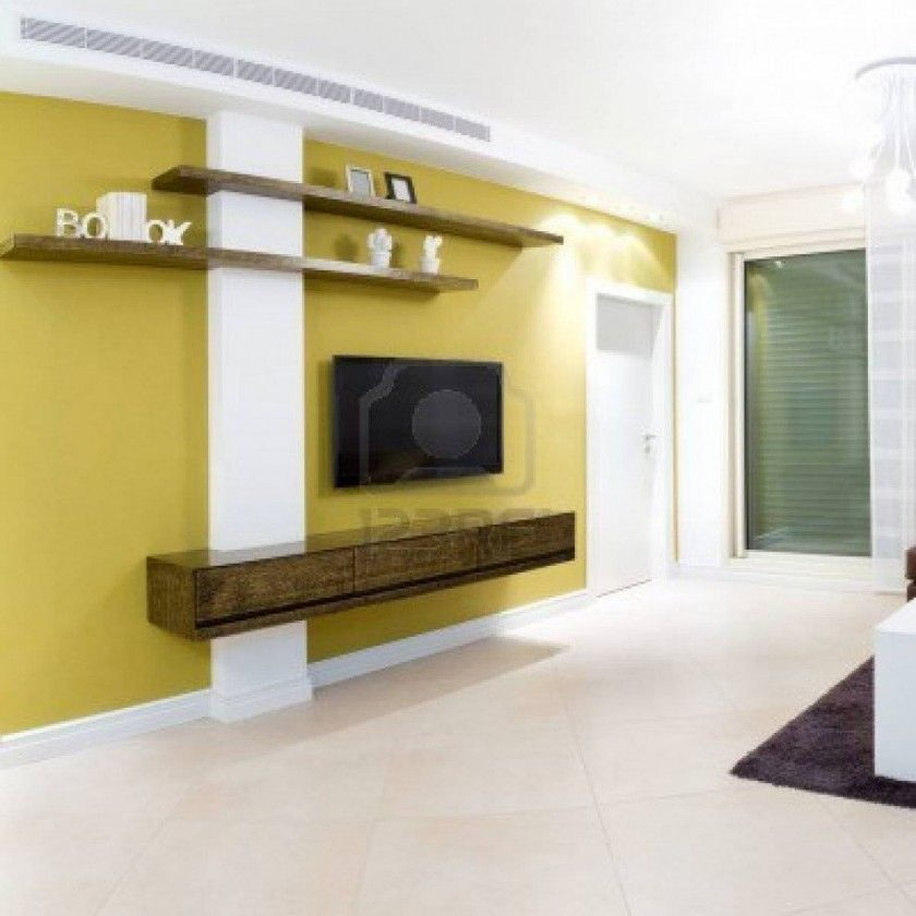 Excellent Tv Wall Mounting With Dark Wooden Wall Cabinet And Soft ...