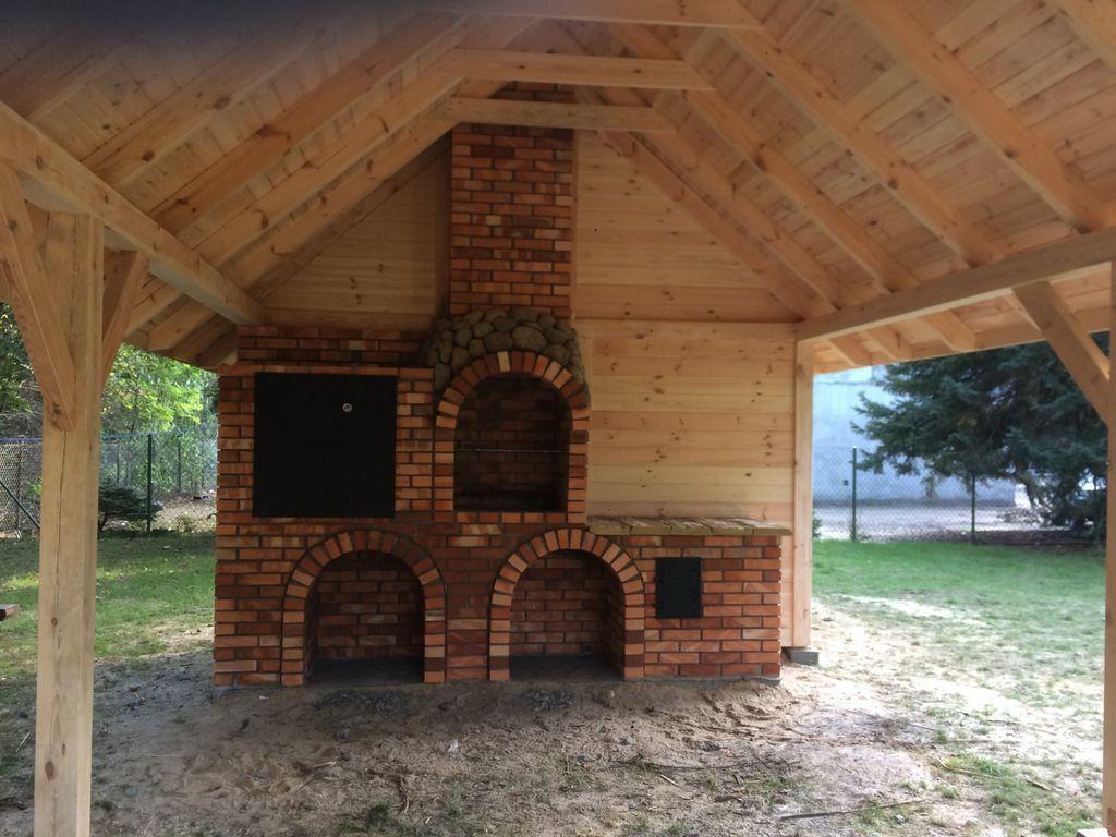 Altana Altanka Meble Gril Wedzarnia Disign 7115827444 Oficjalne Archiwum Allegro Outdoor Kitchen Pergola Timber Framing