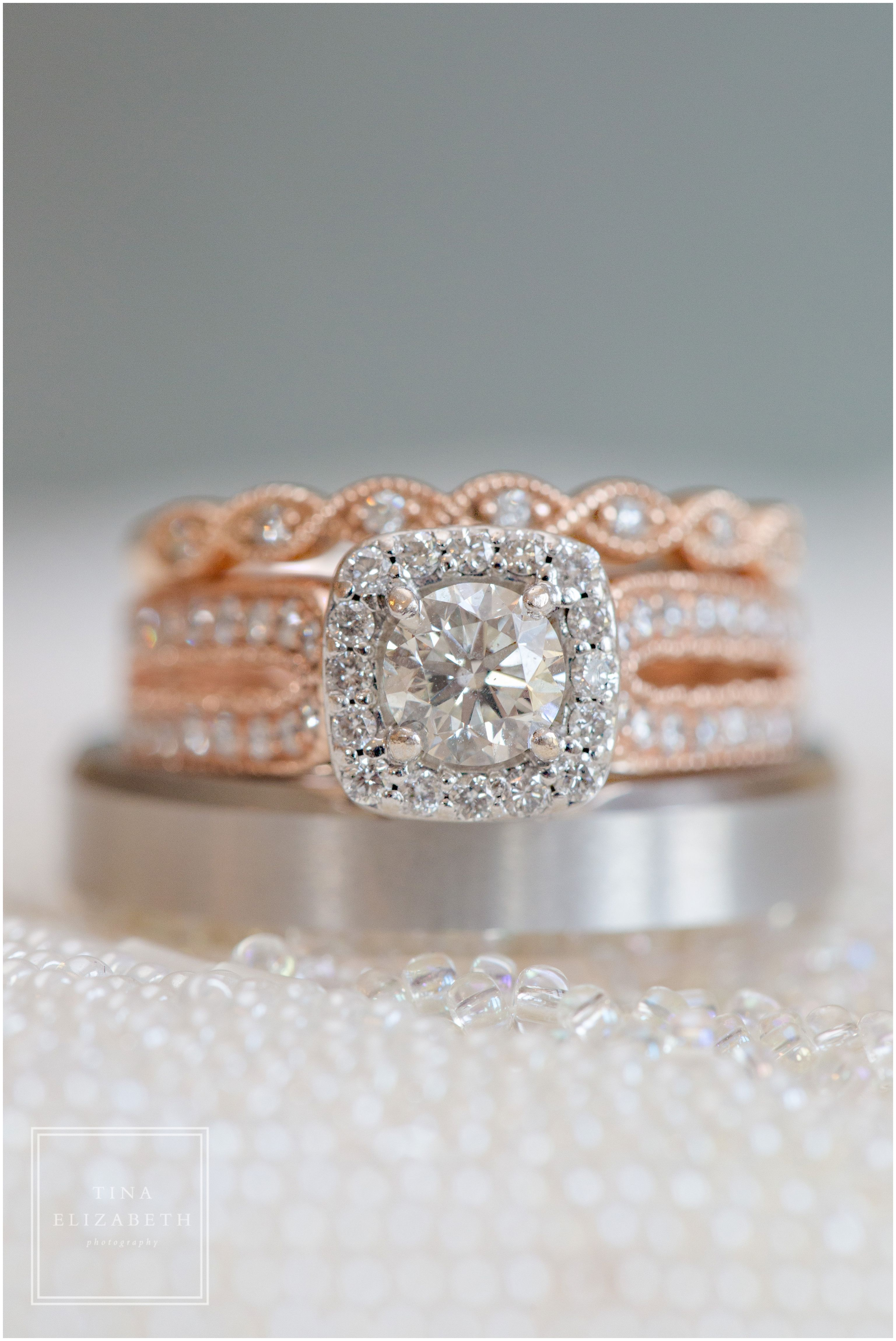 Rose Gold Wedding Band Engagement Ring Rock Island Lake Club Sparta Nj Wedding Photog Engagement Ring Wedding Band Nj Wedding Photographer Gold Wedding Band