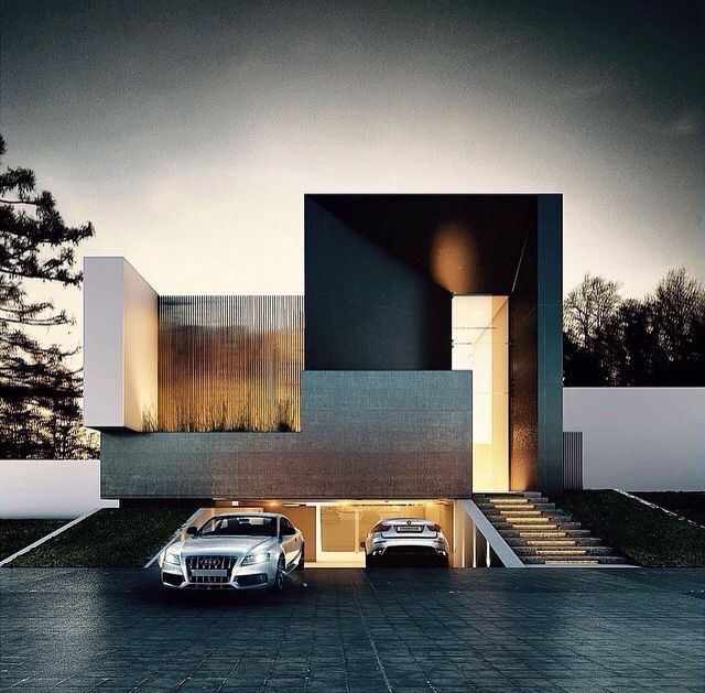 Garage Design Architecture: House Design, Modern House