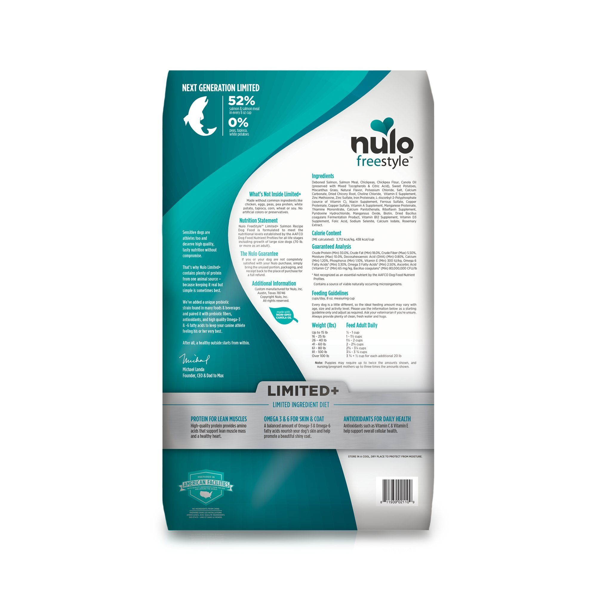 Nulo All Natural Dog Food Freestyle Limited Plus Grain Free Puppy