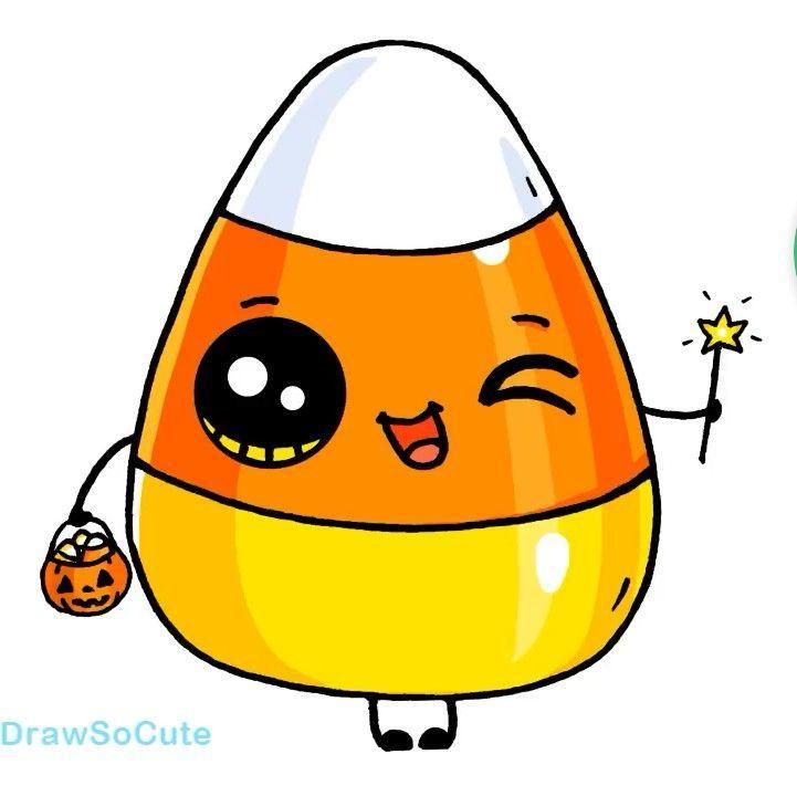 Candy Corn 2020 Sevimli Karikatur Doodle Sanati Boyama Kitaplari
