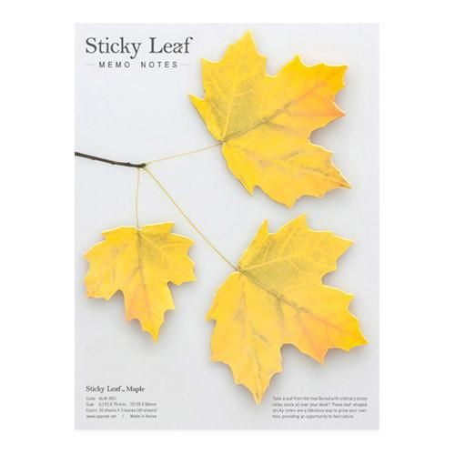 Appree Maple leaf yellow sticky memo notes Large