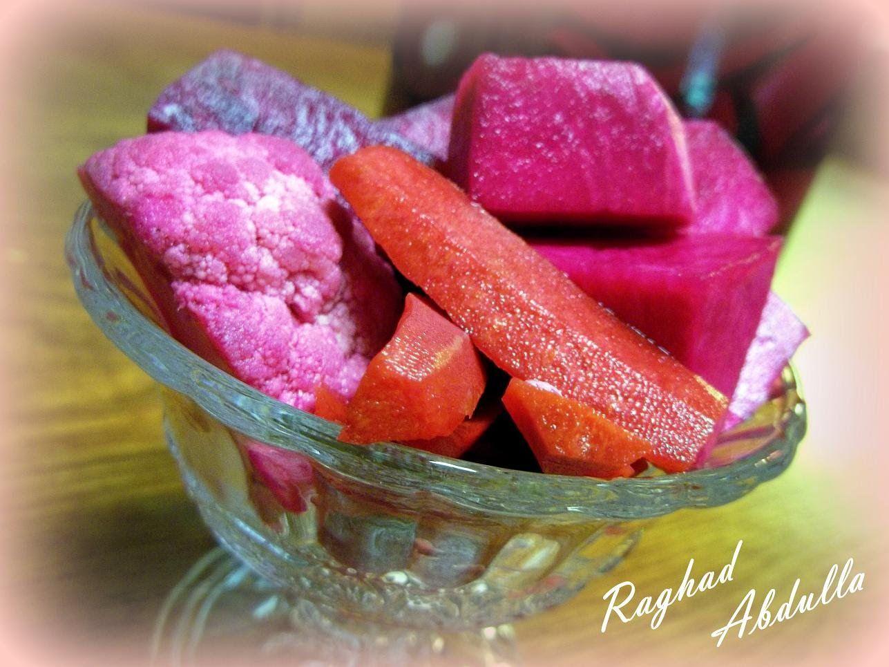 مخلل شوندر لفت جزر ملفوف وقرنبيط Pickled Turnips English Food Recipes