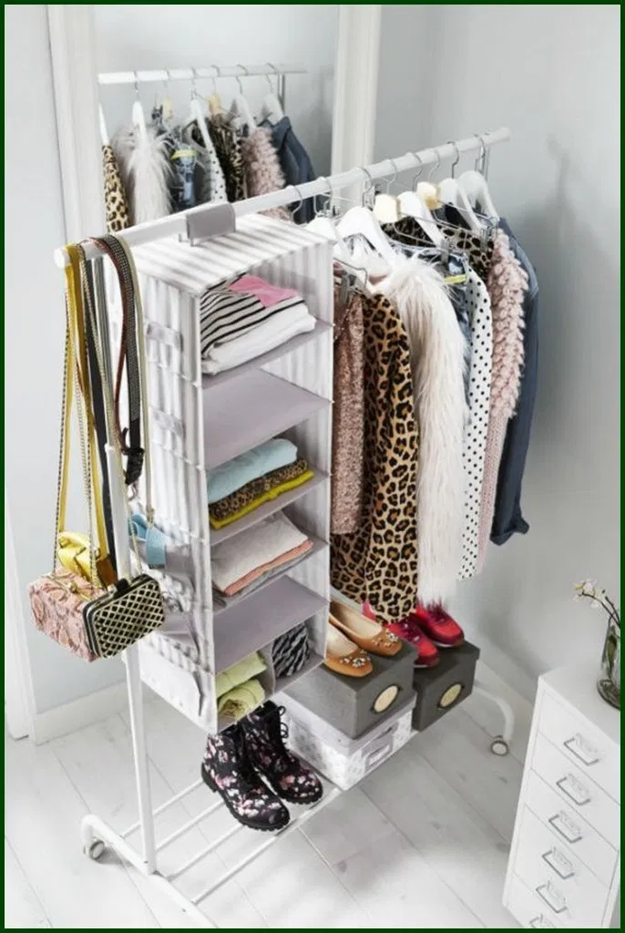 25 Best And Unique Storage For Your Bedroom Decoration Bedroominspo Dreamroom Bedroomstorage Bedro Hanging Clothes Racks Diy Clothes Storage Clothing Rack