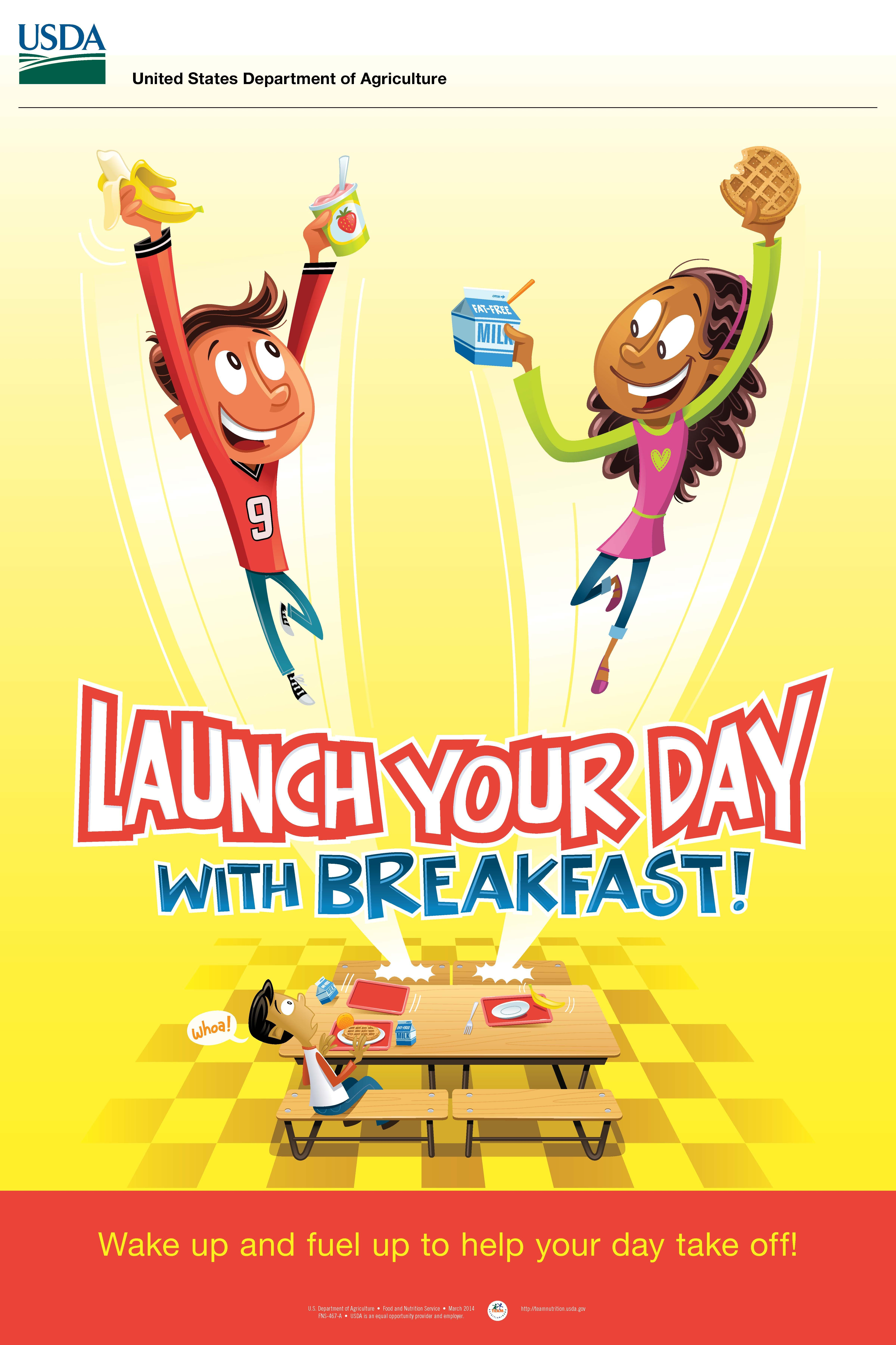 Encourage kids to eat breakfast with this cool free poster