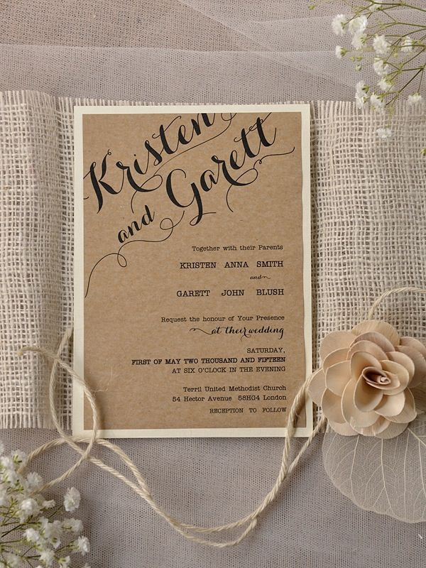 make your wedding invitation all the more classic and make it look ...