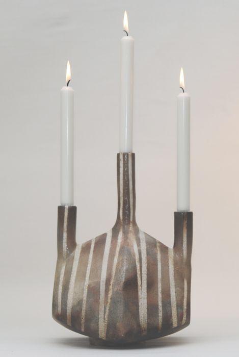Kertastjaki Hofundur Hafdis Brands Sagbrenndur Steinleir Haed 32 Cm Verd 36 000 Kr Leiga Greidsla A Manudi 1 000 Kr Http Artotek Is Taper Candle Candles