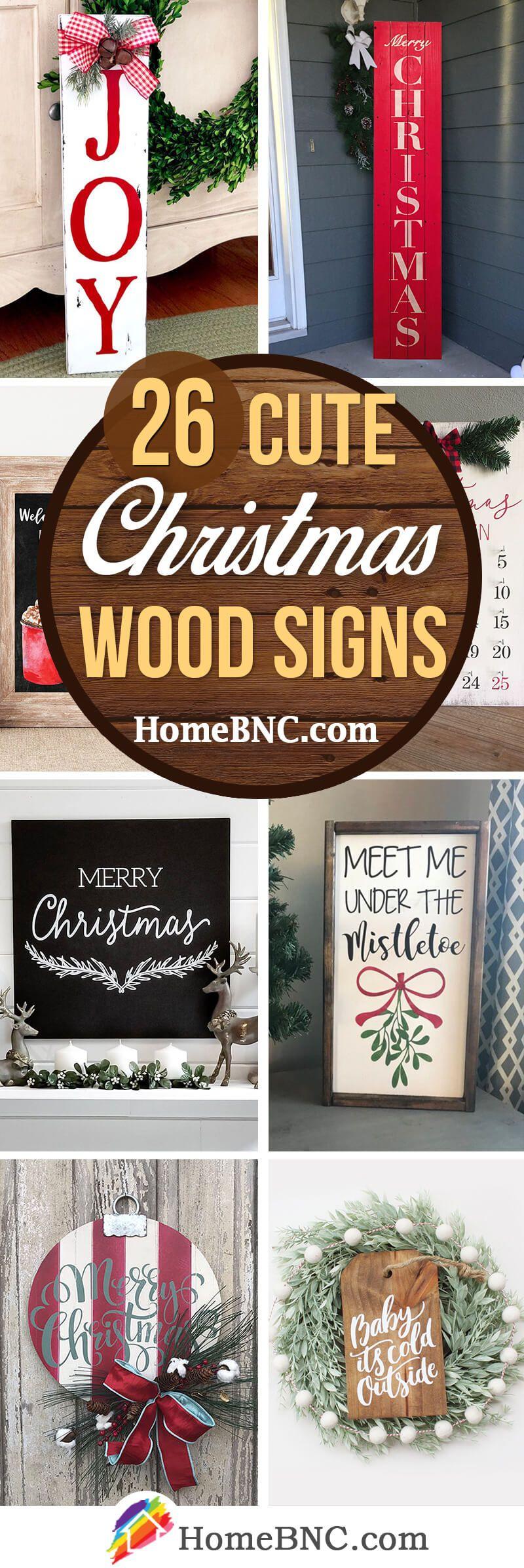26 schöne Weihnachtsschilder aus Holz für einen einzigartigen Weihnachtslook #woodsigns