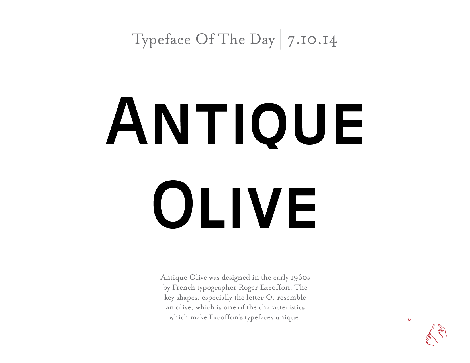Today's typeface is Antique Olive   Catapult Strategic Design   Moving Brands Forward Since 1999 www.catapultu.com #type #typography #graphicdesign #fonts #design
