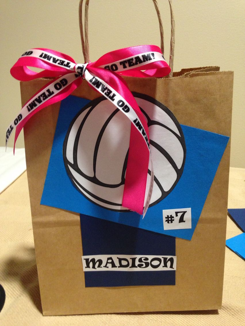 Volleyball Goody Bags Volleyball Snacks Volleyball Team Gifts Volleyball Bag