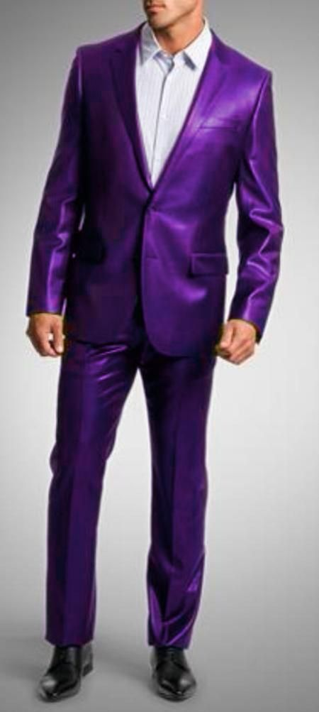904a5b1ac05 SKU PRL9182 Shiny Sharkskin Bright Flashy Satin Metallic Purple Suit  175